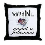 Save a Fish Throw Pillow