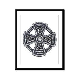 Trinity Celtic Cross Framed Panel Print