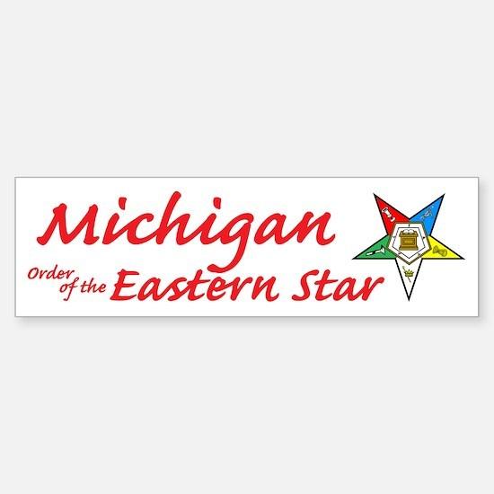Michigan Eastern Star Bumper Bumper Bumper Sticker