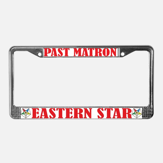 OES Past Matron License Plate Frame
