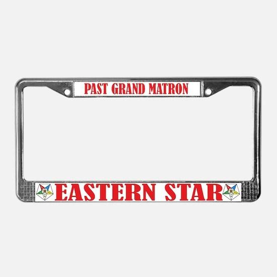 Past Grand Matron License Plate Frame