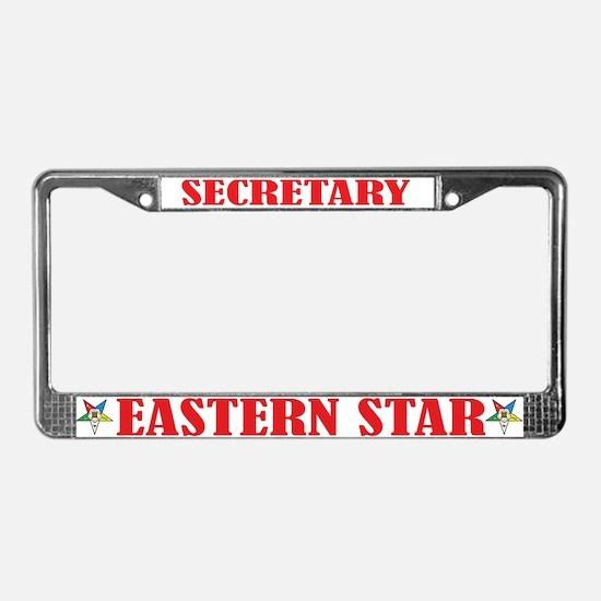 OES Secretary License Plate Frame