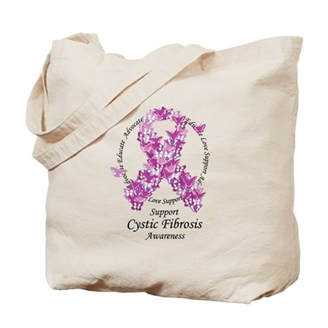CF Butterfly Ribbon Tote Bag