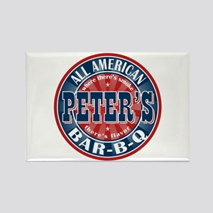 Peter's All American BBQ Rectangle Magnet