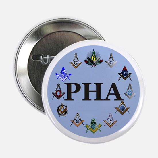 "PHA Square and Compass 2.25"" Button"