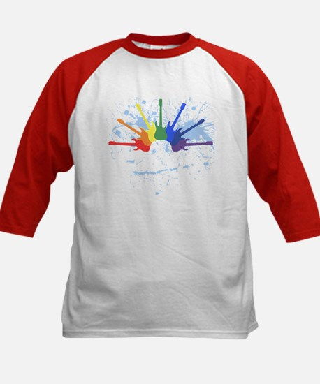 Guitar Rainbow Kids Baseball Jersey