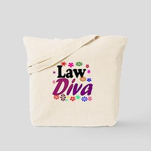 Law Diva (flowers) Tote Bag