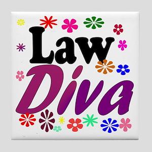 Law Diva (flowers) Tile Coaster