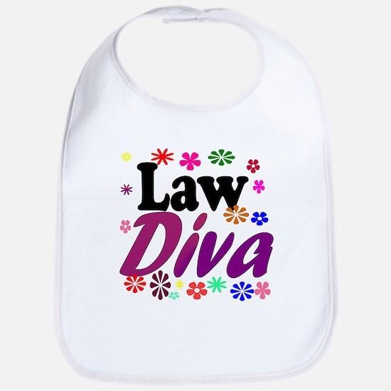 Law Diva (flowers) Bib