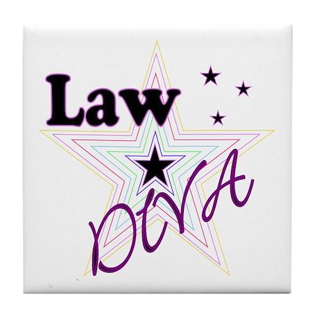Law Diva (Star) Tile Coaster