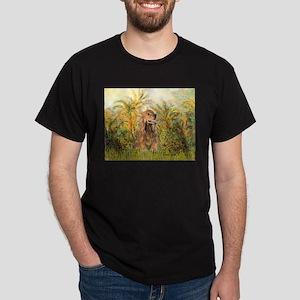 Palms/Cocker Spaniel (brown) Dark T-Shirt