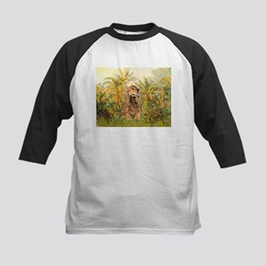 Palms/Cocker Spaniel (brown) Kids Baseball Jersey