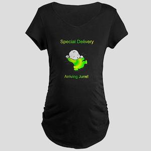 Arriving June Maternity Dark T-Shirt