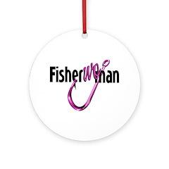 FisherWOman Ornament (Round)