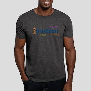 Triathlon Text - Blue Dark T-Shirt
