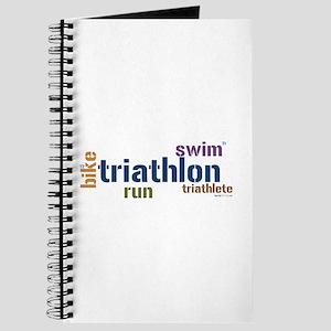 Triathlon Text - Blue Journal