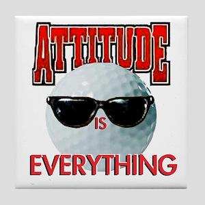 Attitude is Everything - Golf Tile Coaster