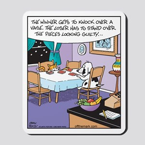 Cat and Dog Gambling Mousepad