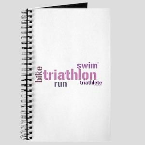 Triathlon Text - Pink Journal