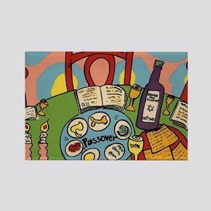 Seder Table Rectangle Magnet