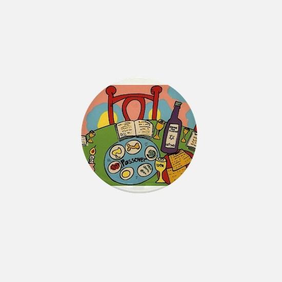 Seder Table Mini Button