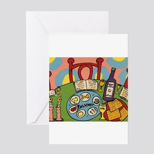 Passover seder stationery cafepress seder table greeting card m4hsunfo