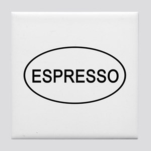 Espresso Euro Oval white Tile Coaster