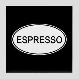 Espresso Euro Oval black Tile Coaster