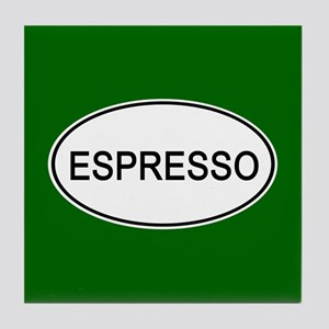 Espresso Euro Oval green Tile Coaster