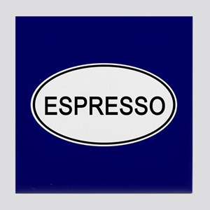 Espresso Euro Oval blue Tile Coaster