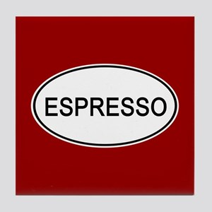 Espresso Euro Oval red Tile Coaster