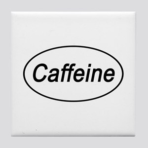 Caffeine Euro Oval white Tile Coaster