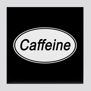 Caffeine Euro Oval black Tile Coaster