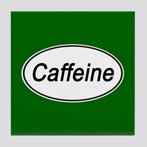 Caffeine Euro Oval green Tile Coaster