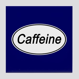 Caffeine Euro Oval blue Tile Coaster