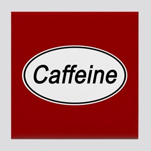 Caffeine Euro Oval red Tile Coaster