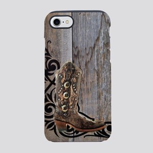 cowboy boots barnwood iPhone 8/7 Tough Case