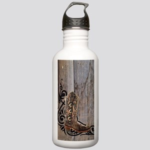 cowboy boots barnwood Stainless Water Bottle 1.0L