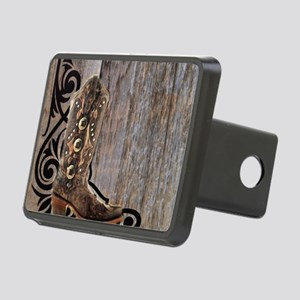 cowboy boots barnwood Rectangular Hitch Cover