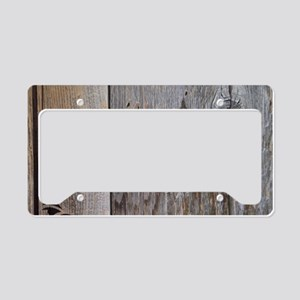 cowboy boots barnwood License Plate Holder