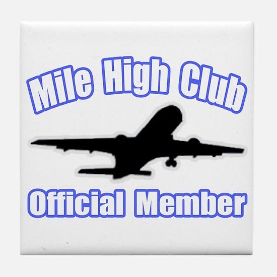 """Mile High Club"" Tile Coaster"