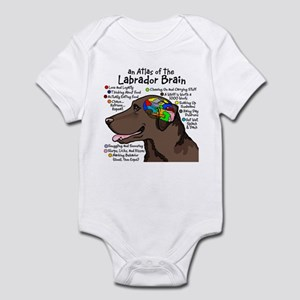 Chocolate Lab Brain Infant Bodysuit