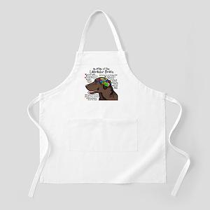 Chocolate Lab Brain BBQ Apron