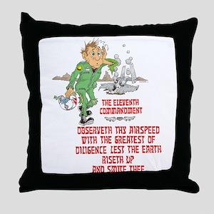 11th COMMANDMENT/MIL Throw Pillow