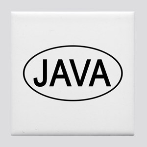 Java Euro Oval white Tile Coaster