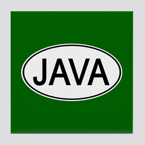 Java Euro Oval green Tile Coaster