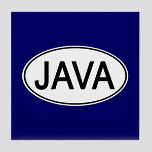 Java Euro Oval blue Tile Coaster