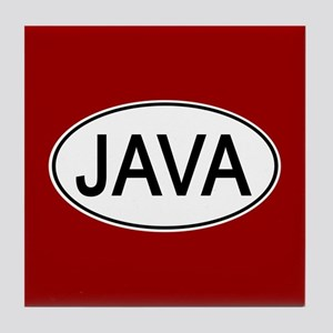 Java Euro Oval red Tile Coaster