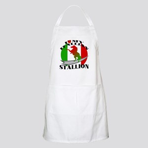 I Love My Italian Stallion BBQ Apron