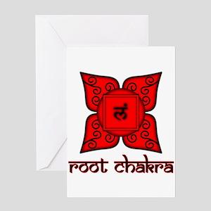 Root Chakra Greeting Card